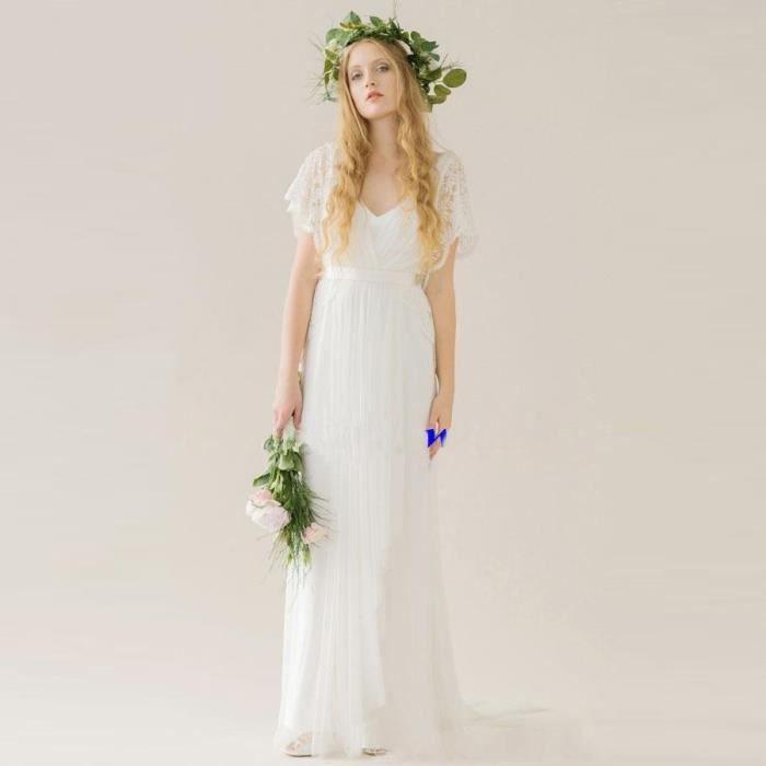 Robe longue blanche plage la mode des robes de france for Meilleurs concepteurs de robe de mariage de plage