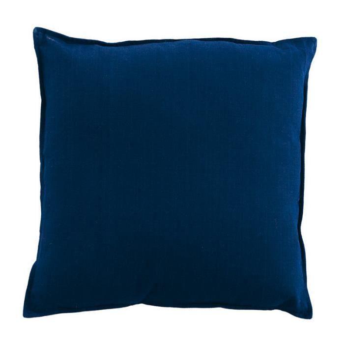 coussin hip hop 40x40cm bleu marine 100 coton achat vente coussin soldes cdiscount. Black Bedroom Furniture Sets. Home Design Ideas