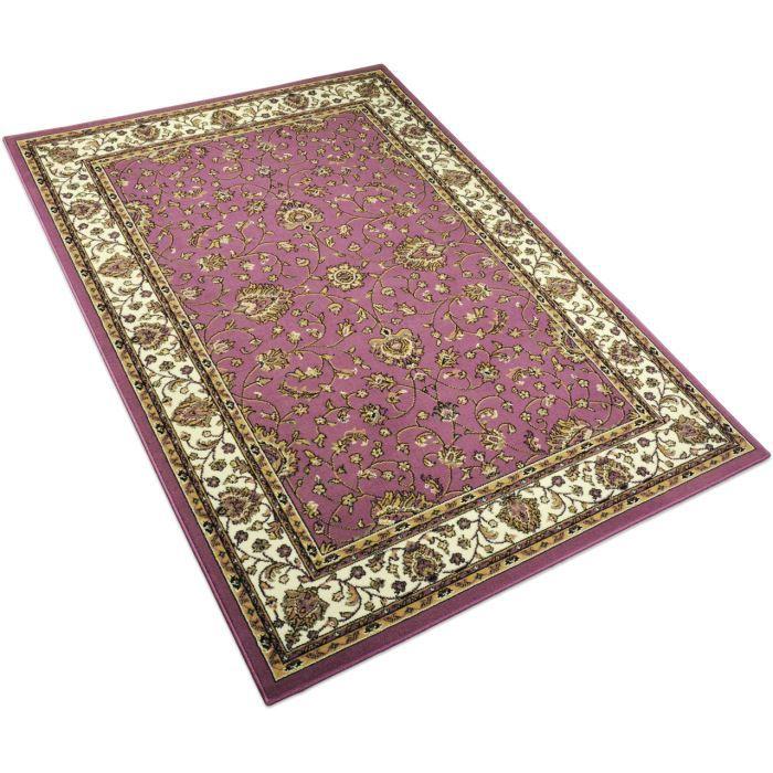tapis salon peking rose universol 160x225cm achat vente tapis cdiscount. Black Bedroom Furniture Sets. Home Design Ideas