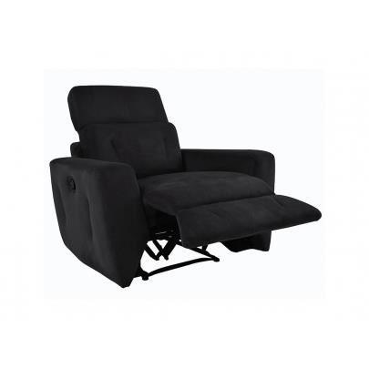 Fauteuil relax en microfibre breteuil noir achat vente fauteuil cdisc - Cdiscount fauteuil relax ...