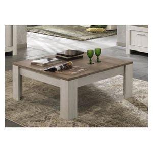 Grande table basse carre achat vente grande table for Table basse en chene clair