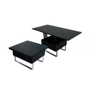 table basse extensible noir achat vente table basse. Black Bedroom Furniture Sets. Home Design Ideas