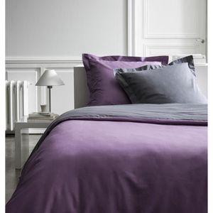 maison linge housses de couette lf  violet