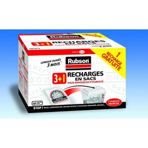 ABSORBEUR D'HUMIDITÉ RUBSON Recharge Classic - 1 kg - 4 recharges