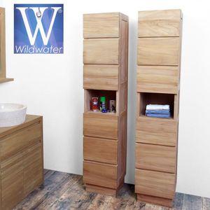 Colonne salle de bains teck achat vente colonne salle for Colonne de salle de bain cdiscount
