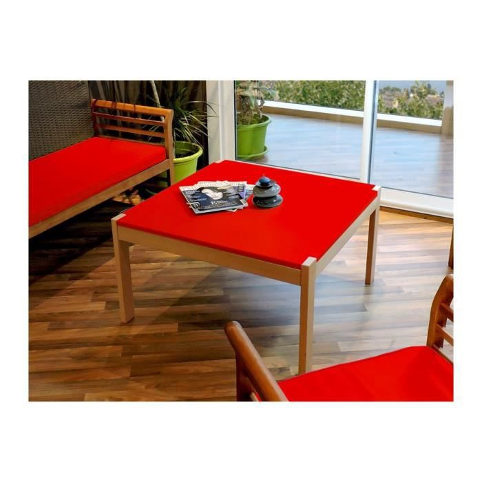 table basse berlin rouge achat vente table basse table basse berlin rouge cdiscount. Black Bedroom Furniture Sets. Home Design Ideas