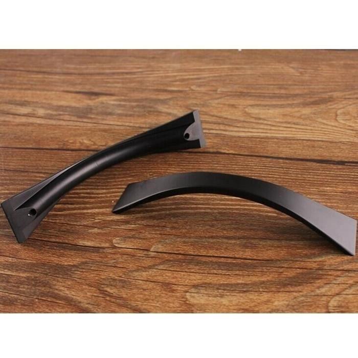 Poign e noir en alliage de zinc du cabinet entraxe 96mm for Poignee porte cuisine design