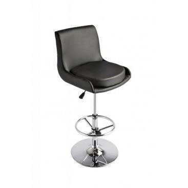 fauteuil de bar en simili cuir pelagia noir achat vente fauteuil pu simili m tal. Black Bedroom Furniture Sets. Home Design Ideas