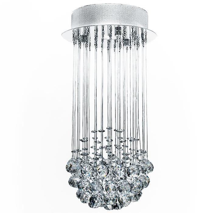 lustre plafonnier en cristal achat vente lustre plafonnier en crista cdiscount. Black Bedroom Furniture Sets. Home Design Ideas