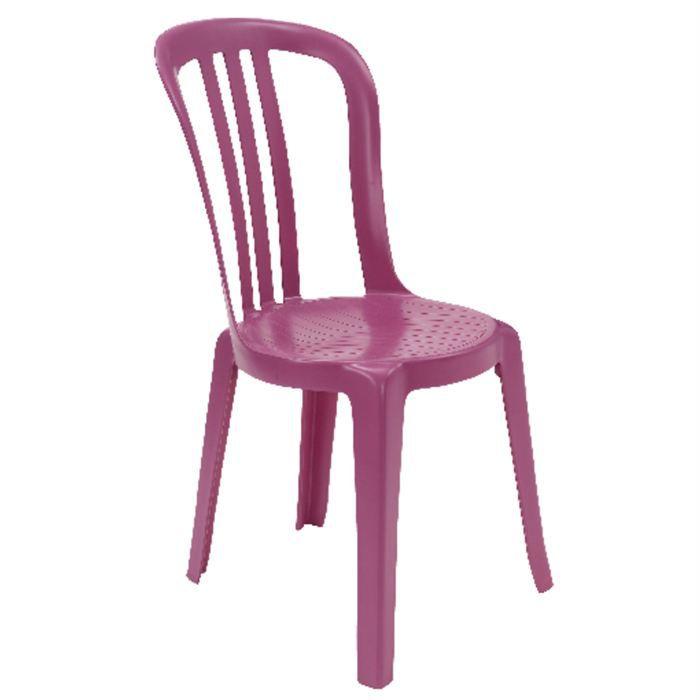 Chaises bistro grosfillex fuchsia achat vente fauteuil jardin chaises bistro grosfillex - Chaises grosfillex jardin ...