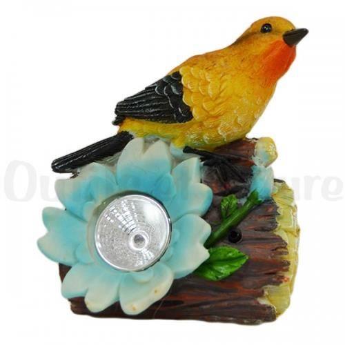 Lampe solaire oiseau bleu et orange achat vente lampe for Oiseau bleu et orange