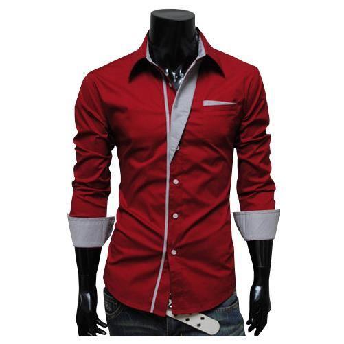 chemise rouge homme. Black Bedroom Furniture Sets. Home Design Ideas