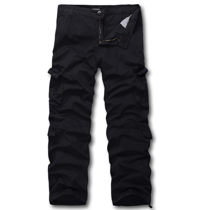 pantalon cargo homme noir camouflage automne ma noir. Black Bedroom Furniture Sets. Home Design Ideas