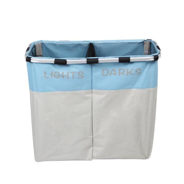 U max panier linge avec couverture nette corbeille - Panier a linge 2 compartiments ...