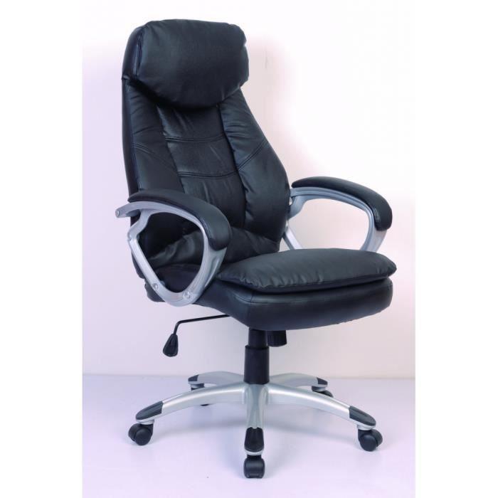 fauteuil de bureau cro 251 te de cuir noir achat vente chaise de bureau noir cdiscount