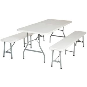 table en bois avec banc achat vente table en bois avec banc pas cher cdiscount. Black Bedroom Furniture Sets. Home Design Ideas
