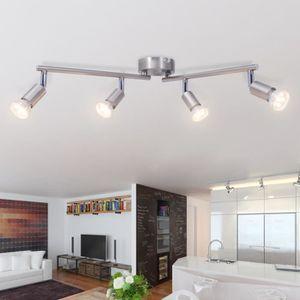 luminaire lustre lampe 4 spots achat vente luminaire lustre lampe 4 spots pas cher cdiscount. Black Bedroom Furniture Sets. Home Design Ideas