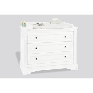 commode a langer blanche achat vente commode a langer blanche pas cher cdiscount. Black Bedroom Furniture Sets. Home Design Ideas