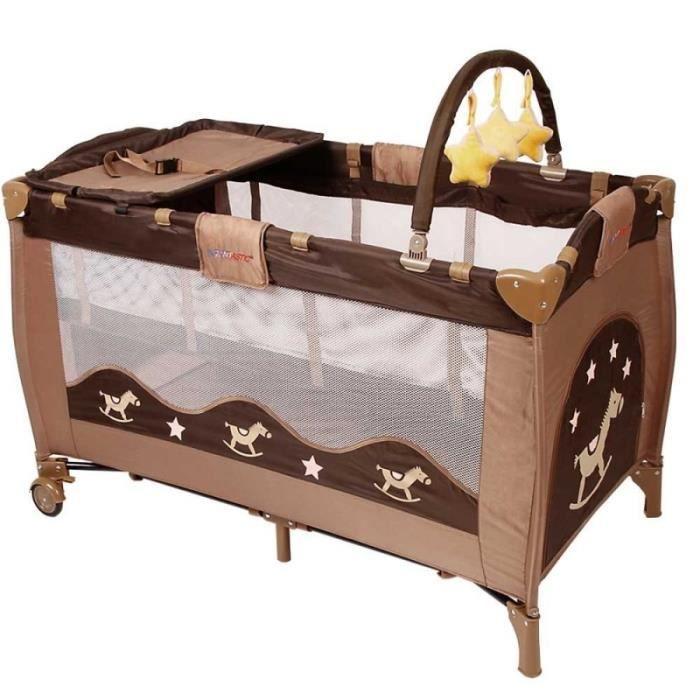 lit parapluie voyage b b pliant avec accessoires jusqu 39 15kg marron ape01015 achat vente. Black Bedroom Furniture Sets. Home Design Ideas