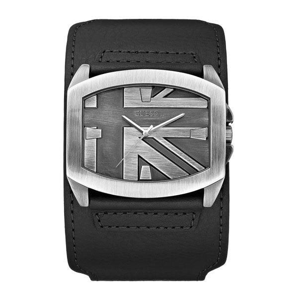 montre guess homme bracelet cuir achat vente montre. Black Bedroom Furniture Sets. Home Design Ideas