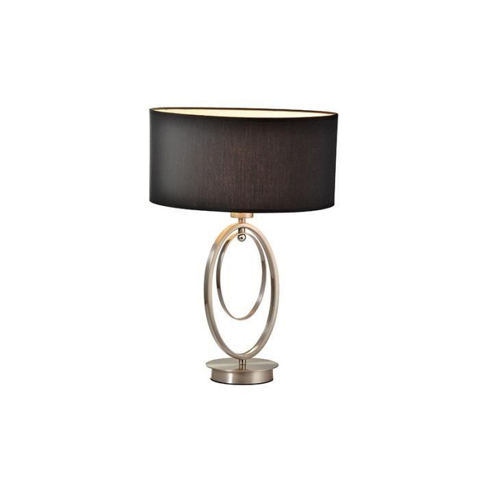 Lampe argent et noir ask achat vente lampe argent et noir ask cdisc - Lampe de chevet noir et argent ...