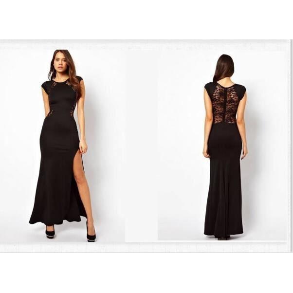 ROBE DE CÉRÉMONIE Sexy robe noir robe longue robe robe de soirée pas