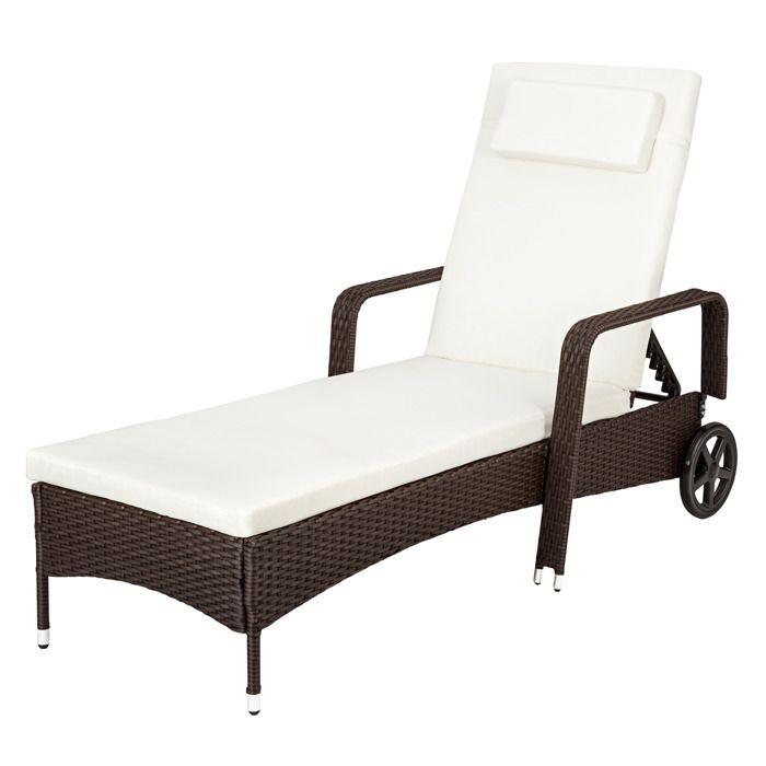 Chaise longue transat bain de soleil en aluminium et for Bain de soleil chaise longue