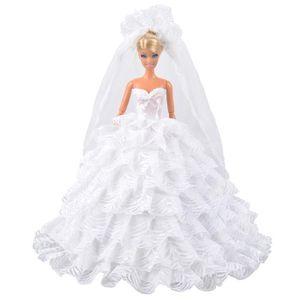 ACCESSOIRE POUPÉE E-TING Mode de mariée princesse Party Dress Vêteme