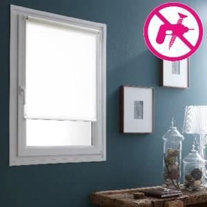 store enrouleur 100 occultant blanc 50x180cm achat. Black Bedroom Furniture Sets. Home Design Ideas