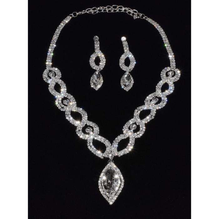 parure bijoux argent bijoux fantaisie pour mariage With parure bijoux argent