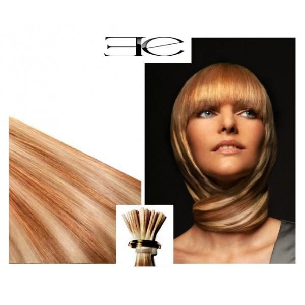 40 m ches extensions n blond dor m ch blond clair cheveux 100 naturels froid 50 cm - Meche blond dore ...