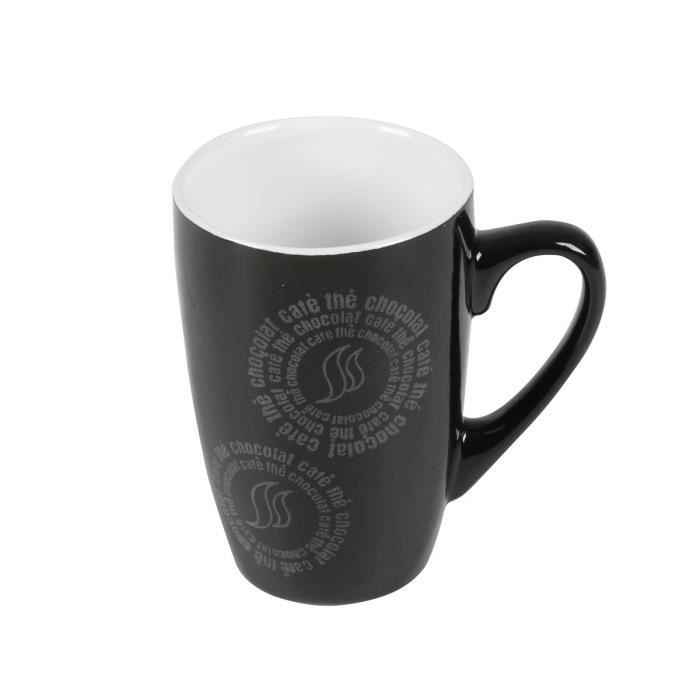 mug en c ramique cafe creme 0 15l noir achat vente bol mug mazagran cdiscount. Black Bedroom Furniture Sets. Home Design Ideas