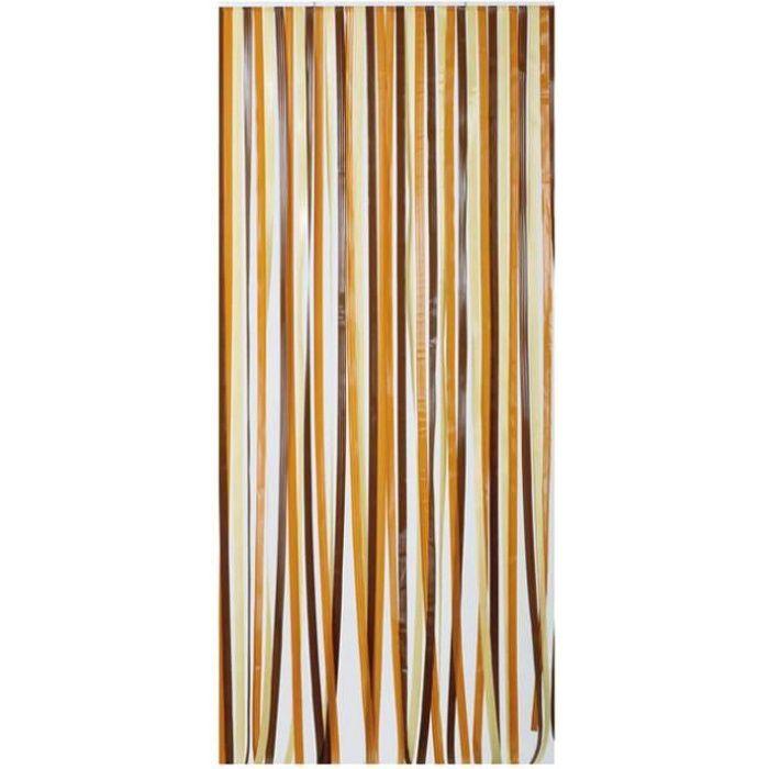 rideau de porte lani re antilles morel 120x220cm b achat vente rideau de porte poly thyl ne. Black Bedroom Furniture Sets. Home Design Ideas