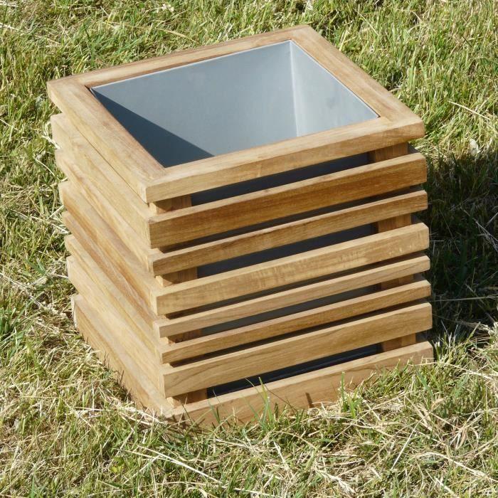 bac teck int rieur zinc 30 30 cm achat vente. Black Bedroom Furniture Sets. Home Design Ideas