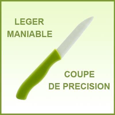 couteau en c ramique lame blanche 7 5 cm achat vente m nag re cdiscount. Black Bedroom Furniture Sets. Home Design Ideas