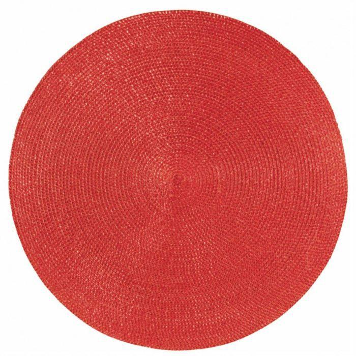 set de table rond classique rouge achat vente set de. Black Bedroom Furniture Sets. Home Design Ideas