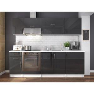 cuisine gris laque achat vente cuisine gris laque pas cher cdiscount. Black Bedroom Furniture Sets. Home Design Ideas