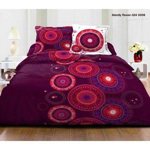 Parure drap plat 1 personne achat vente parure drap - Drap housse 140x190 violet ...
