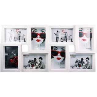 cadre photo multi vues p le m le blanc 28 5 x 56 8 achat vente cadre photo cdiscount. Black Bedroom Furniture Sets. Home Design Ideas