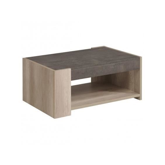 Leeds table basse rectangulaire achat vente table for Table basse petit prix