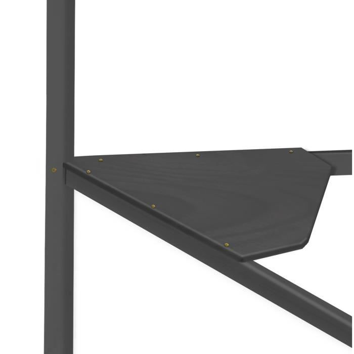 bureau d 39 angle gris anthracite pour lits mezzanine achat vente bureau bureau d 39 angle gris. Black Bedroom Furniture Sets. Home Design Ideas