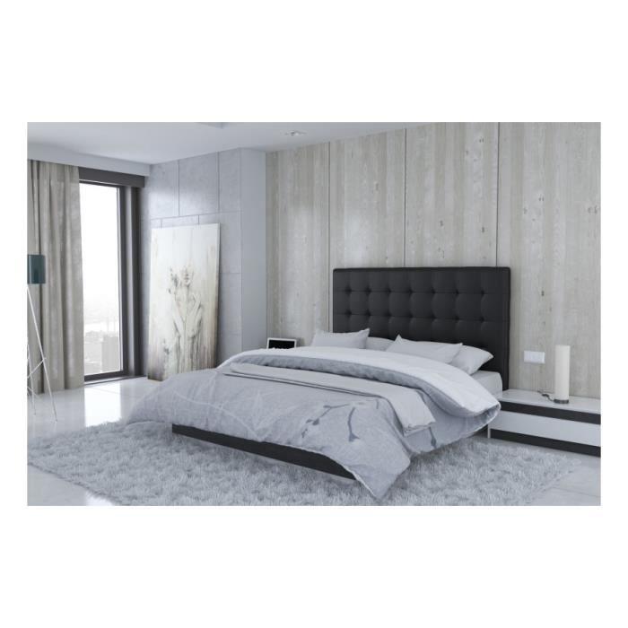 T te de lit en pu noir naples taille 160 cm achat vente t te de lit - Tete de lit noir 160 ...