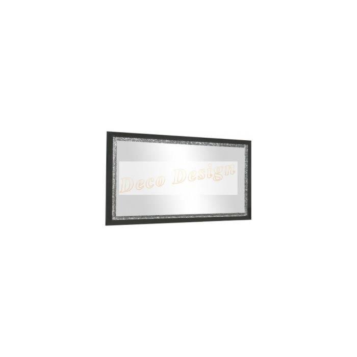 Miroir cromo laque noir 140 cm achat vente vitrine for Miroir 140 cm