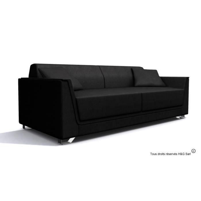 Canape design tissu 3 places next noir sans fauteuil for Canape design pas cher tissu