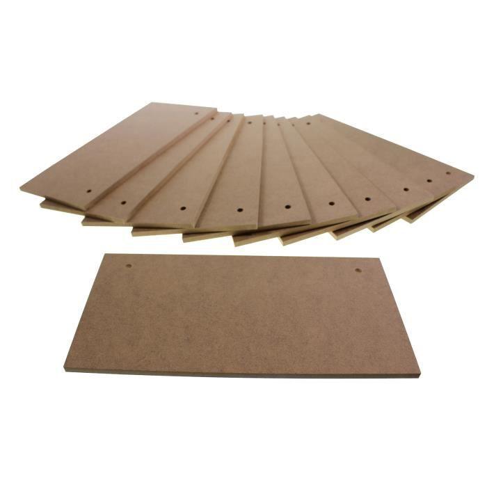 12 plaques signes en bois agglom r vierge 20x10cm achat vente planche table a dessin 12. Black Bedroom Furniture Sets. Home Design Ideas
