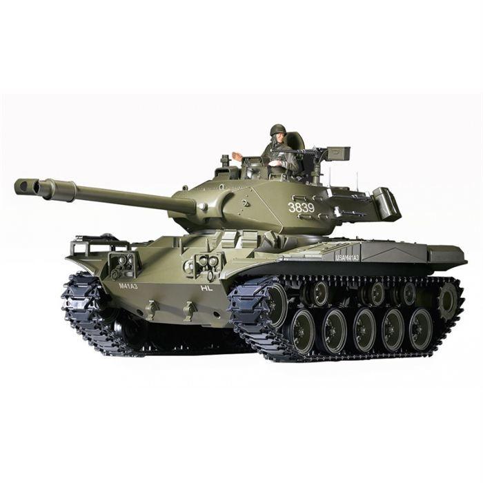 char d 39 assault rc 1 16 m41a3 complet bruit fum e achat. Black Bedroom Furniture Sets. Home Design Ideas