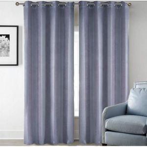 rideaux gris raye achat vente rideaux gris raye pas. Black Bedroom Furniture Sets. Home Design Ideas