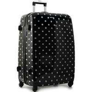 valise a pois extensible 70cm noir achat vente valise bagage valise a pois extensible 70. Black Bedroom Furniture Sets. Home Design Ideas