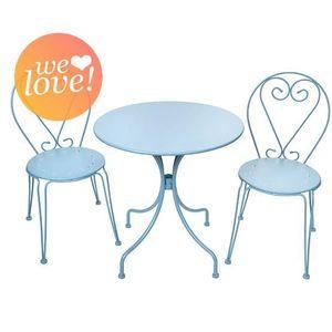 Fauteuil salon bleu achat vente fauteuil salon bleu pas cher cdiscount - Salon jardin romantique ...