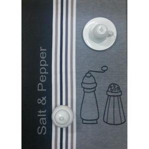 torchon gris achat vente torchon gris pas cher cdiscount. Black Bedroom Furniture Sets. Home Design Ideas